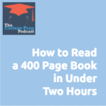 How to read a 400 page book in under 2 hours